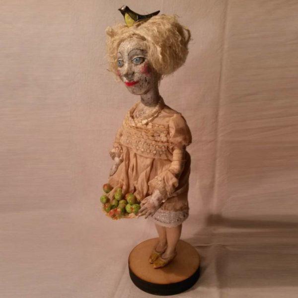 Авторская кукла из папье-маше