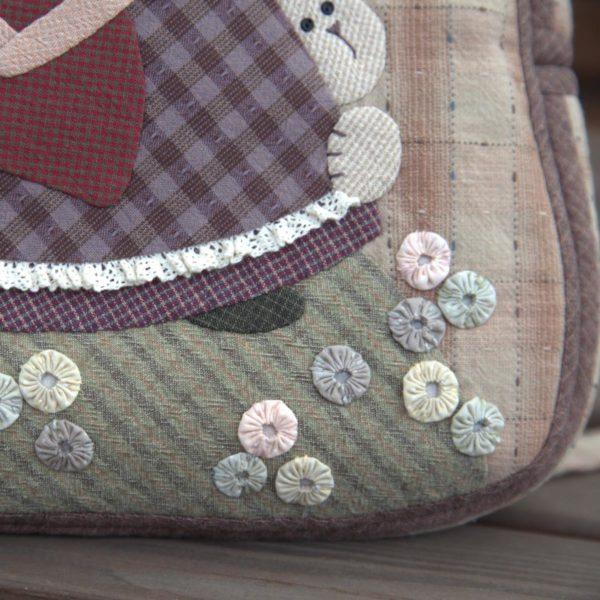 Авторский женский рюкзак Кукла с зайчиками